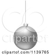 Clipart Of A Silver Floral Christmas Bauble Royalty Free Vector Illustration