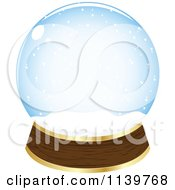 Clipart Of An Empty Snow Globe Royalty Free Vector Illustration