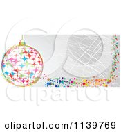 Clipart Of A Colorful Christmas Bauble And Grungy Website Banner Royalty Free Vector Illustration