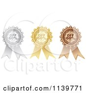 Clipart Of Silver Gold And Bronze Sixty Percent Off Retail Sale Ribbons Royalty Free Vector Illustration by Andrei Marincas