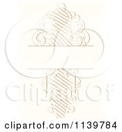 Clipart Of An Ornate Golden Swirl Wedding Invitation Background Royalty Free Vector Illustration by BestVector