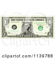 Clipart Of An American One Dollar Bill Royalty Free Vector Illustration