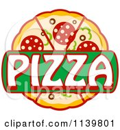 Clipart Of A Pizza Pie Logo 1 Royalty Free Vector Illustration