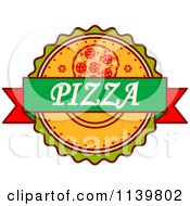 Clipart Of A Pizza Pie Logo 2 Royalty Free Vector Illustration