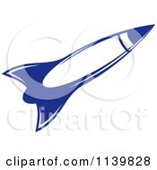 Clipart Of A Retro Blue Space Shuttle Rocket 6 Royalty Free Vector Illustration