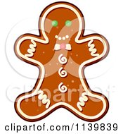 Clipart Of A Gingerbread Man Christmas Cookie Royalty Free Vector Illustration by Vector Tradition SM