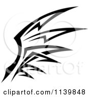 Clipart Of A Black And White Tribal Wing 3 Royalty Free Vector Illustration by Vector Tradition SM