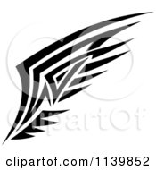 Clipart Of A Black And White Tribal Wing 10 Royalty Free Vector Illustration by Vector Tradition SM
