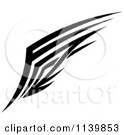 Clipart Of A Black And White Tribal Wing 2 Royalty Free Vector Illustration by Vector Tradition SM