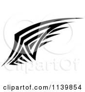 Clipart Of A Black And White Tribal Wing 4 Royalty Free Vector Illustration by Vector Tradition SM