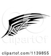 Clipart Of A Black And White Tribal Wing 6 Royalty Free Vector Illustration by Vector Tradition SM