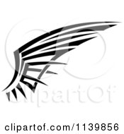 Clipart Of A Black And White Tribal Wing 7 Royalty Free Vector Illustration by Vector Tradition SM