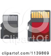 Clipart Of Sd Memory Cards Royalty Free Vector Illustration