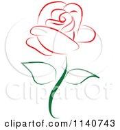 Beautiful Single Red Rose 1