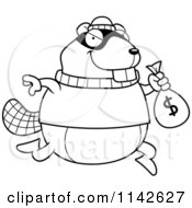 Black And White Beaver Robbing A Bank