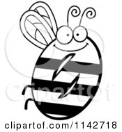 Cartoon Clipart Of A Black And White Bug Number 0 Vector Outlined Coloring Page