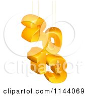 Clipart Of Suspended 3d 2013 New Year Numbers Royalty Free Vector Illustration by AtStockIllustration
