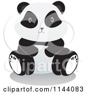 Cartoon Of A Cute Panda Sitting Royalty Free Vector Clipart