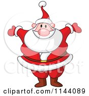 Cartoon Of Santa Happy Holding His Arms Wide Open Royalty Free Vector Clipart by yayayoyo
