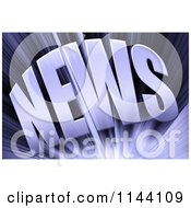Clipart Of A 3d Purple News Burst Royalty Free CGI Illustration