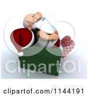 Clipart Of A 3d Santa Relaxing In A Chair Royalty Free CGI Illustration