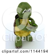Clipart Of A 3d Tortoise Holding A Seedling Plant Royalty Free CGI Illustration