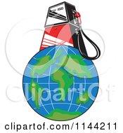 Retro Gas Station Pump On Earth