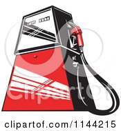 Clipart Of A Retro Gas Station Pump 2 Royalty Free Vector Illustration by patrimonio