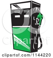 Clipart Of A Retro Gas Station Pump 4 Royalty Free Vector Illustration by patrimonio