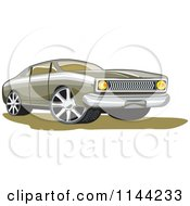 Clipart Of A Retro Ford Fairmont Muscle Car Royalty Free Vector Illustration