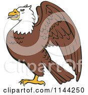 Clipart Of A Bald Eagle In Profile Royalty Free Vector Illustration by patrimonio