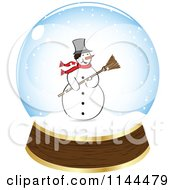 Clipart Of A Christmas Snowman In A Snow Globe Royalty Free Vector Illustration by Andrei Marincas