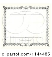 Clipart Of A Vintage Certificate Border Royalty Free Vector Illustration