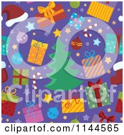 Cartoon Of A Seamless Christmas Background Pattern 2 Royalty Free Vector Clipart
