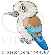 Cartoon Of A Cute Aussie Kookaburra Bird Royalty Free Vector Clipart by visekart #COLLC1144567-0161