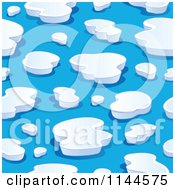 Cartoon Of A Seamless Iceberg Background Pattern Royalty Free Vector Clipart by visekart