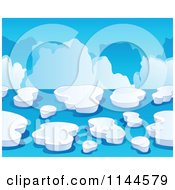 Cartoon Of An Iceberg Background Royalty Free Vector Clipart by visekart