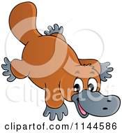 Cartoon Of A Cute Australian Platypus Royalty Free Vector Clipart by visekart