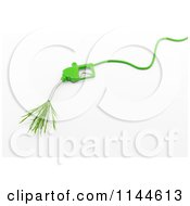 Clipart Of A 3d Green Eco Friendly Biodiesel Fuel Pump Nozzle With Grass Royalty Free CGI Illustration