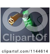 Clipart Of A 3d Green Biodiesel Fuel Pump Nozzle With A Dollar Symbol Royalty Free CGI Illustration