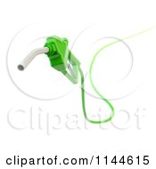 Clipart Of A 3d Green Eco Friendly Biodiesel Fuel Pump Nozzle 2 Royalty Free CGI Illustration