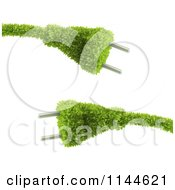 Clipart Of 3d Green Electrical Plugs Royalty Free CGI Illustration