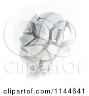 3d Shattering Stone Head