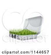 Clipart Of A 3d Briefcase With Green Grass Growing Inside Of It 1 Royalty Free CGI Illustration