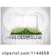 Clipart Of A 3d Briefcase With Green Grass Growing Inside Of It 2 Royalty Free CGI Illustration