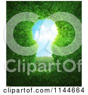 Clipart Of A 3d Hedge Key Hole Royalty Free CGI Illustration