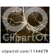 Clipart Of A 3d Brain Neuron Network Royalty Free CGI Illustration