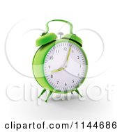 Clipart Of A 3d Green Alarm Clock With Grass Hands Royalty Free CGI Illustration by Mopic