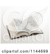 Clipart Of 3d Letters Flying Out Of An Open Book 1 Royalty Free CGI Illustration by Mopic