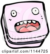 Cartoon Of A Piece Of Licorice Candy Mascot Royalty Free Vector Clipart